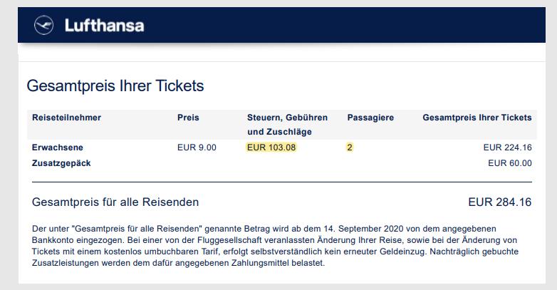 21-04-24 Beispiel Buchungsbestätigung Lufthansa Steuern